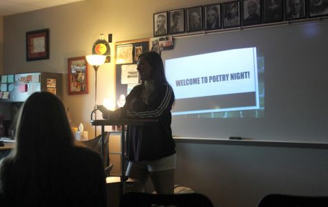 NEHS hosts Open Mic Poetry Night
