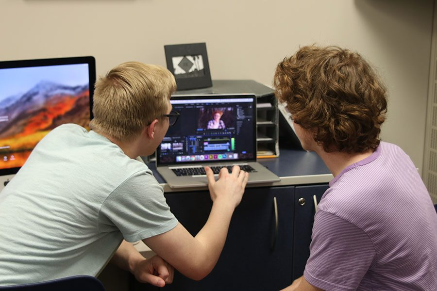 During the editing stage, the pair sorts through their different shots and organizes them in Premier.