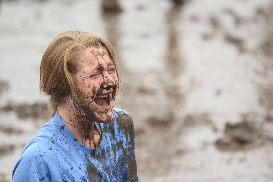 Laughing+hysterically%2C+junior+Jenna+Walker+reacts+to+falling+in+the+mud+after+the+match