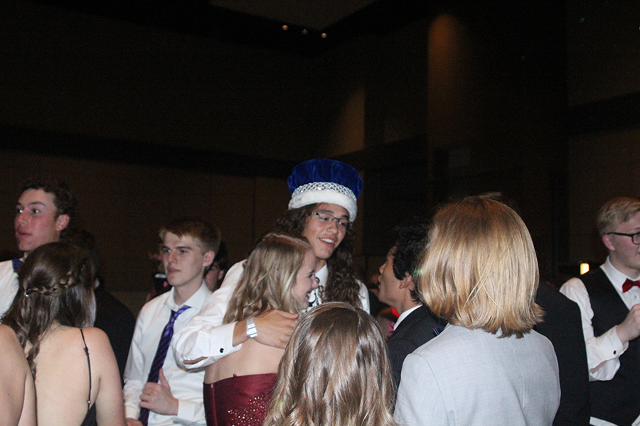 Prom+king+Dylan+Wootton+is+congratulated+on+his+victory.%0A