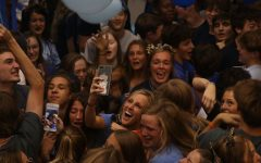 Senior class celebrates the end of homecoming week with annual Blue Bomb