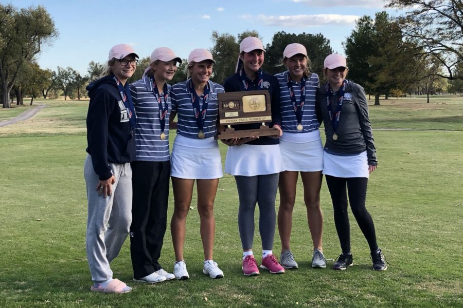 The+girls+golf+team+placed+second+at+state+with+a+total+score+of+713+Tuesday%2C+Oct.+23.++