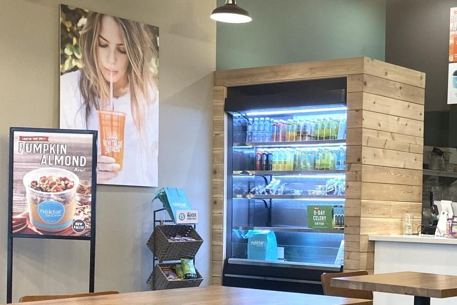 Nékter Juice bar specializes in adding a healthy twist to smoothies and juices.