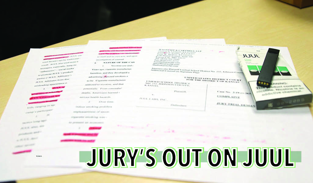 The district joined a lawsuit against JUUL led by Olathe Public Schools.