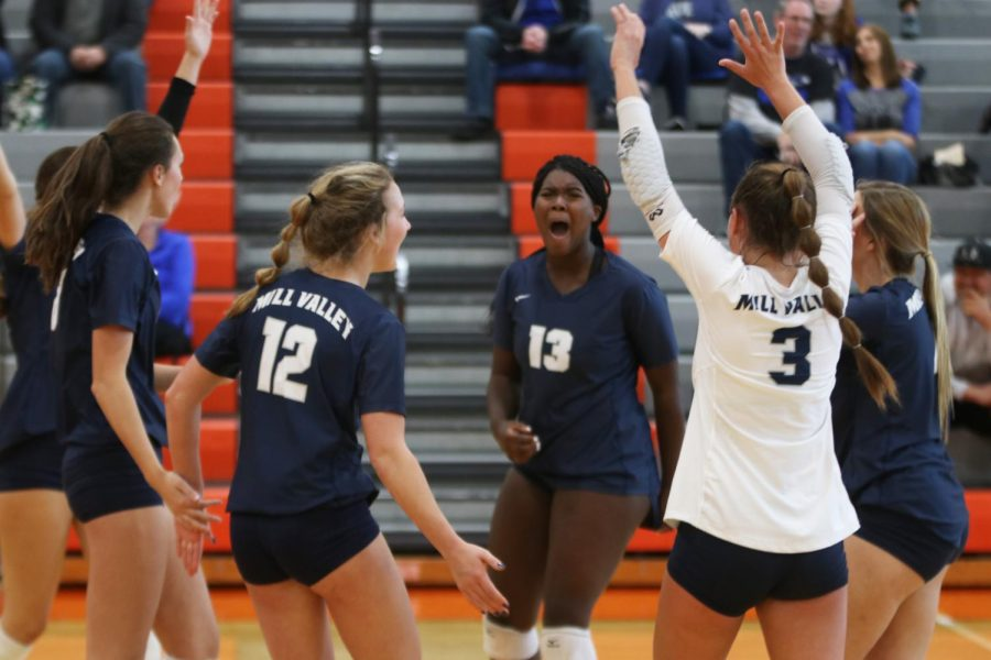 In the midst of the Jags' celebration, sophomore Taylor Roberts yells out to the crowd.