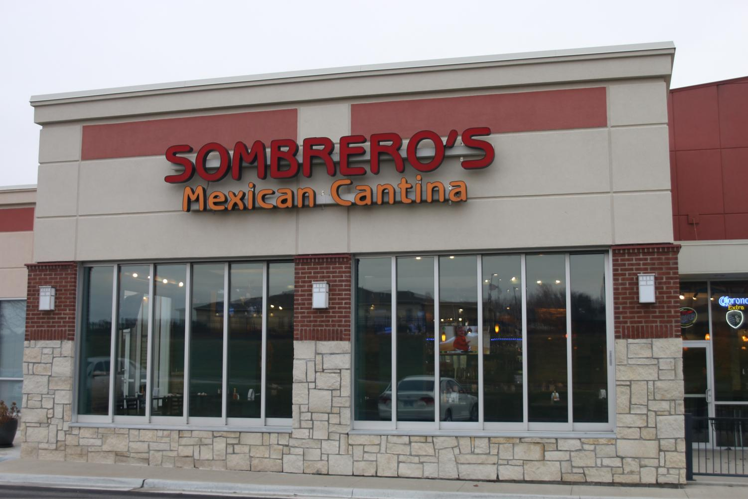 Sombreros is a family owned business in Shawnee, located off Midland Dr. Their casual atmosphere is catered to local families.