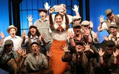 """Students get ready for their production of """"Newsies"""""""