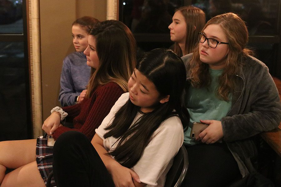 Students pack the local Country Club Cafe during the StuCo-hosted annual Open Mic Night.
