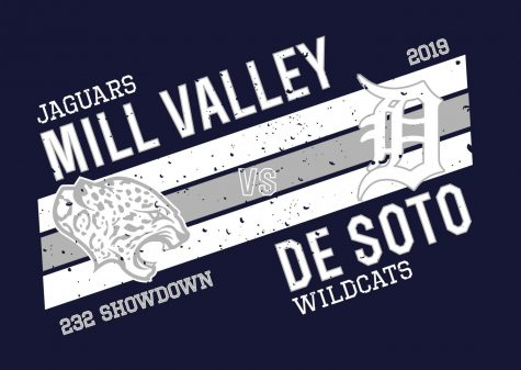 The district is selling spirit wear for the football game, offering the apparel in both navy and green to represent the opposing teams. Mill Valley will face De Soto in quarterfinals Friday, Nov. 15, so order forms will be due Monday, Nov. 11 at 10 a.m.