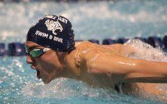 Freshman Anthony Molinaro breaks school boy's swim record in the 50-yard freestyle