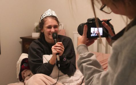 Broadcast students surprise Winter Homecoming candidates