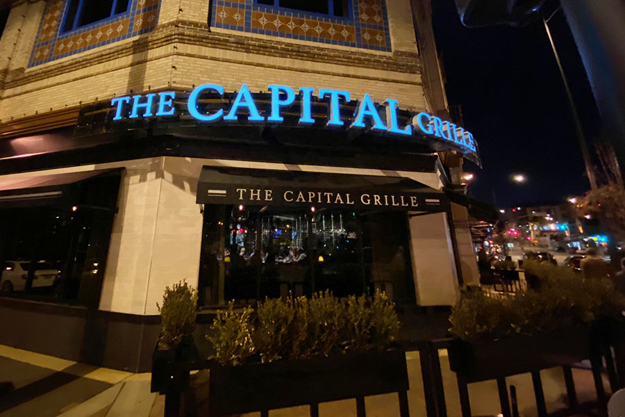 The Capital Grille is located on 4760 Broadway Blvd. in Kansas City, MO.
