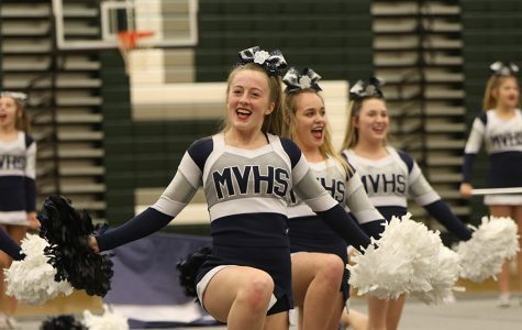 Cheer team ends season with district showcase at De Soto High School
