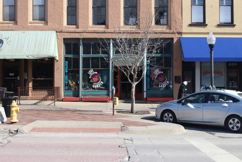 Love Garden Sounds is located on Massachusetts Street in Lawrence Kansas and is surrounded by a plentiful amount of other fun shops and restaurants.