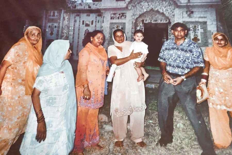 For his first birthday, freshman Amit Kaushal visited his family in  Punjab, India