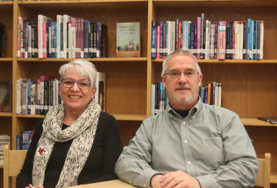 After 20 years at the school, librarian Andy Shelly and gifted services facilitator Carmen Shelly are retiring.