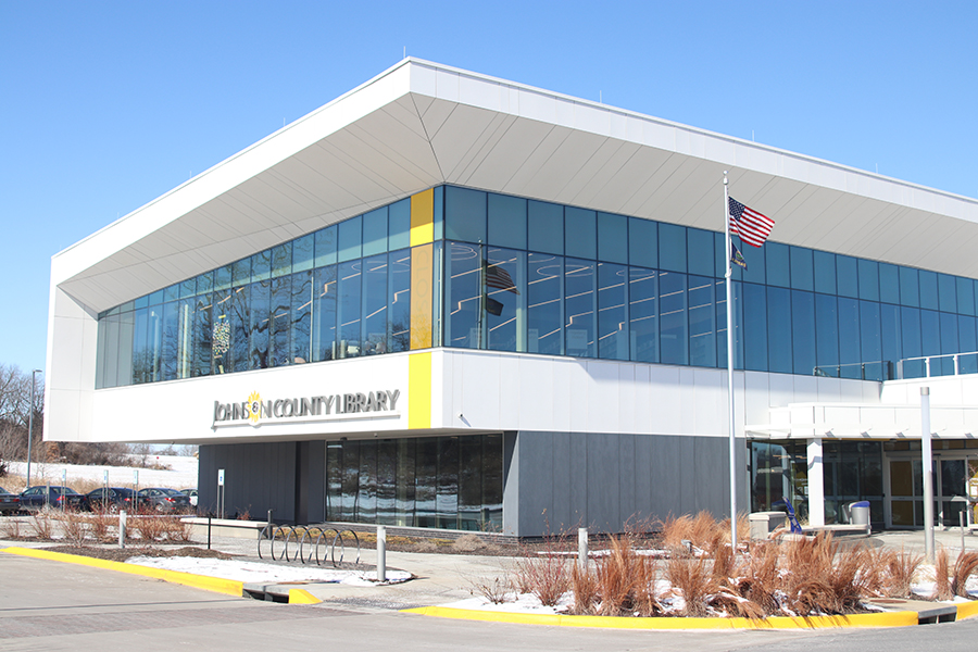 The Monticello location of the many Johnson County libraries is a great place to meet friends while over spring break. The location offers both indoor and outdoor seating.