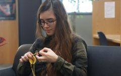 Senior teaches herself foreign languages and crocheting