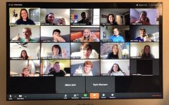 StuCo members meet over a Zoom call to discuss their future projects.
