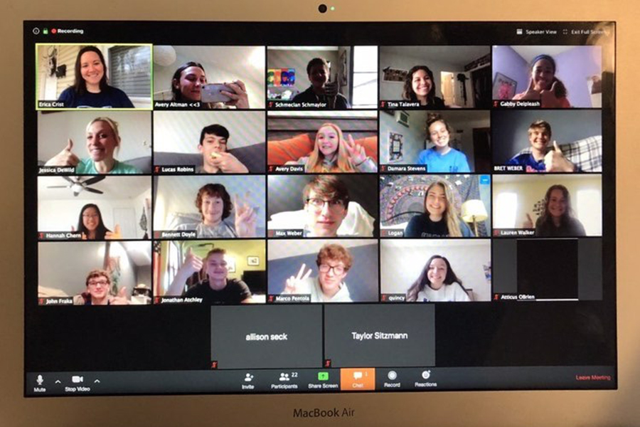 StuCo+members+meet+over+a+Zoom+call+to+discuss+their+future+projects.