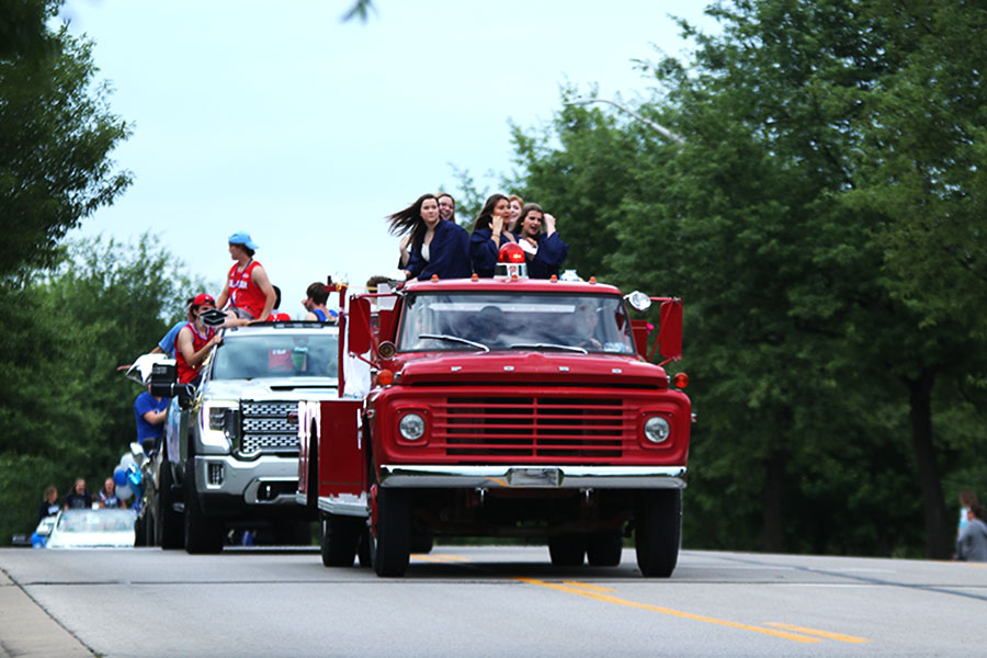 The senior class decided to throw a parade in honor of graduating as Covid-19 eliminated senior prom and postponed graduation. A firetruck led the senior class through their roughly 11 mile long parade route on Wednesday, May 20.