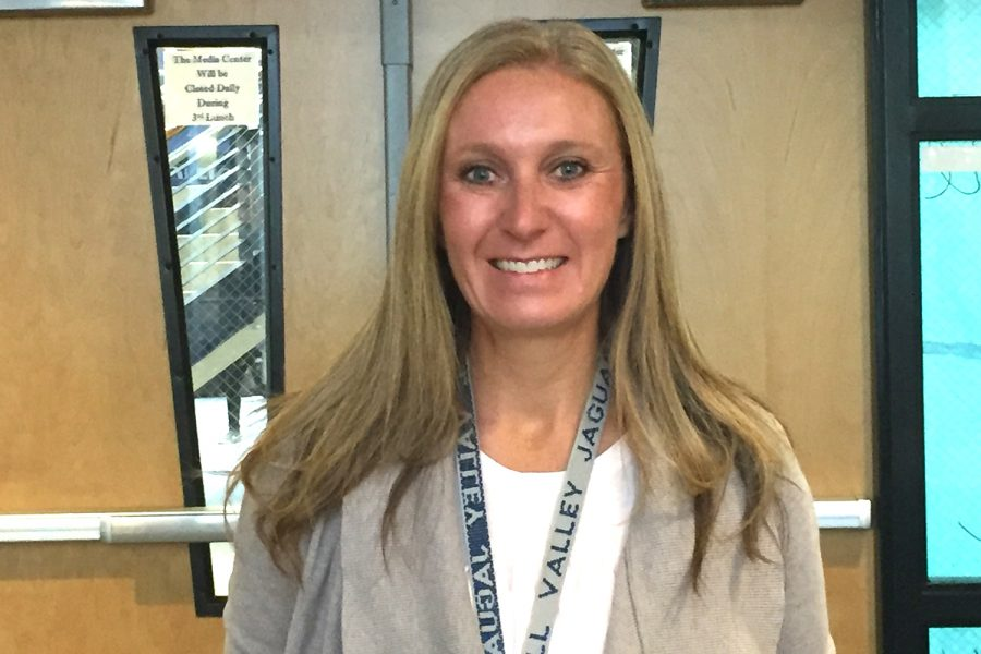 New Media Specialist Ashley Bennett transferred from teaching English at Monticello Trails Middle School.
