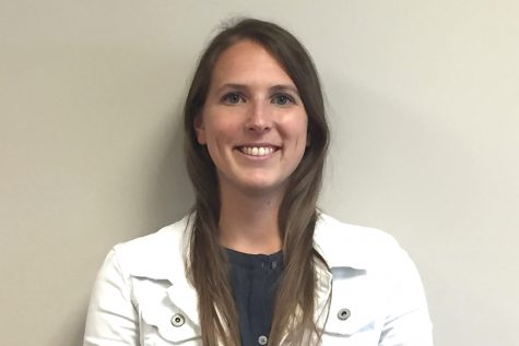 New social studies teacher, Melissa Weber, switches teaching high school students before teaching middle school students.