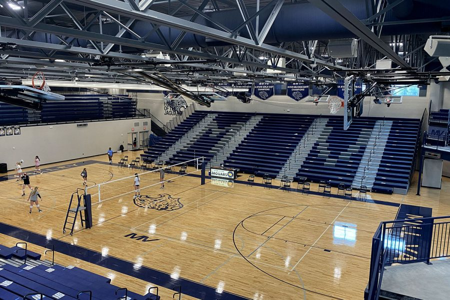 The new main gym has much more space than the former gym and can hold much more events.