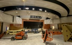 The new theater is expected to be complete by mid-October, according to Manning Construction superintendent Everett Dexter.