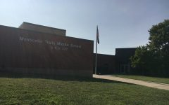 The exterior of Monticello Trails Middle School.