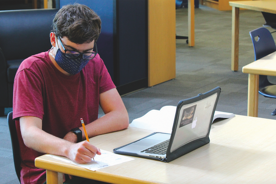 In his free time, senior Zachary Botkin enjoys educating himself on higher-level mathematics.