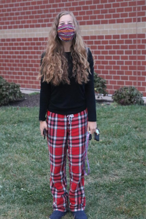 In her PJs and slippers is junior Alyson Brown ready to show off her HOCO spirit.