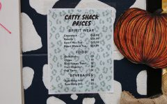 The Catty Shack opens for business with a variety of items for sale, including cookies, drinks and spirit wear.