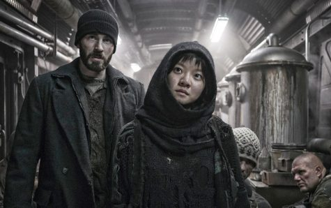 "Chris Evans and Asung Ko starred in the 2013 sci-fi movie ""Snowpiercer."""