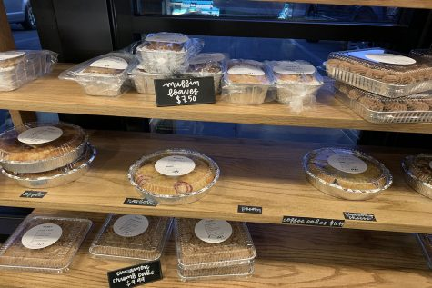 McLain's has a wide variety of pastries ready to be purchased such as apple pie.