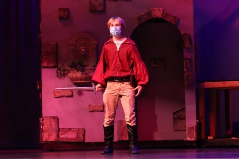 "Practicing singing one of his parts in ""The Pirates of Penzance,"" sophomore Carter Harvey is set to play Frederic. The musicals Sullivan cast performed Thursday, Feb. 18."