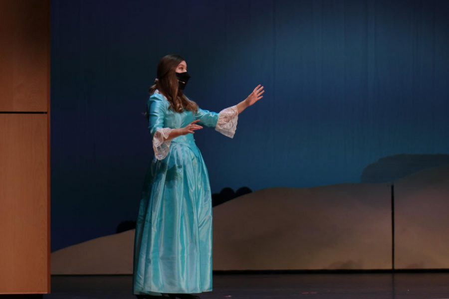 Sophomore Asa Esparza sings her first solo while playing her role as Mabel.