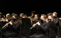 The 2021 concert band records their competition piece virtually.