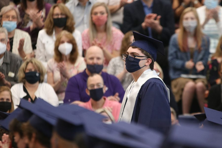 Amongst his fellow classmates, senior Zachary Botkin stands to be recognized as class valedictorian.