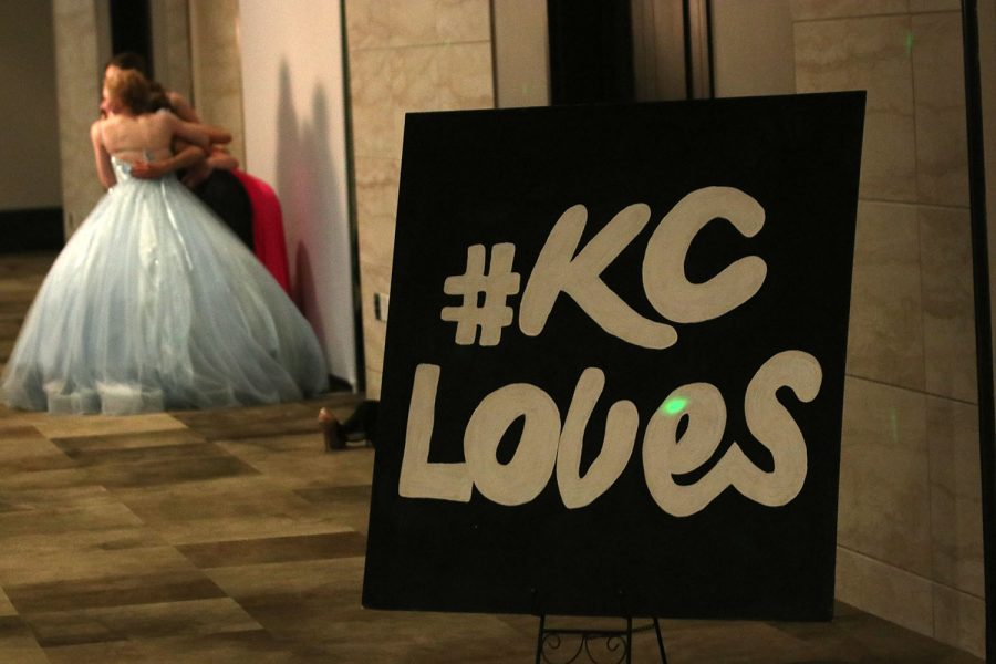 The theme for prom this year was Kansas City so the prom committee painted large signs with logos and phrases from around the city. Party favors were decorated sugar cookies and stickers with Kansas City-related items.