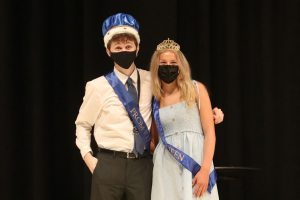 During the prom coronation ceremony on Friday, May 7, seniors John Fraka and Molly Ricker were crowned prom king and queen.