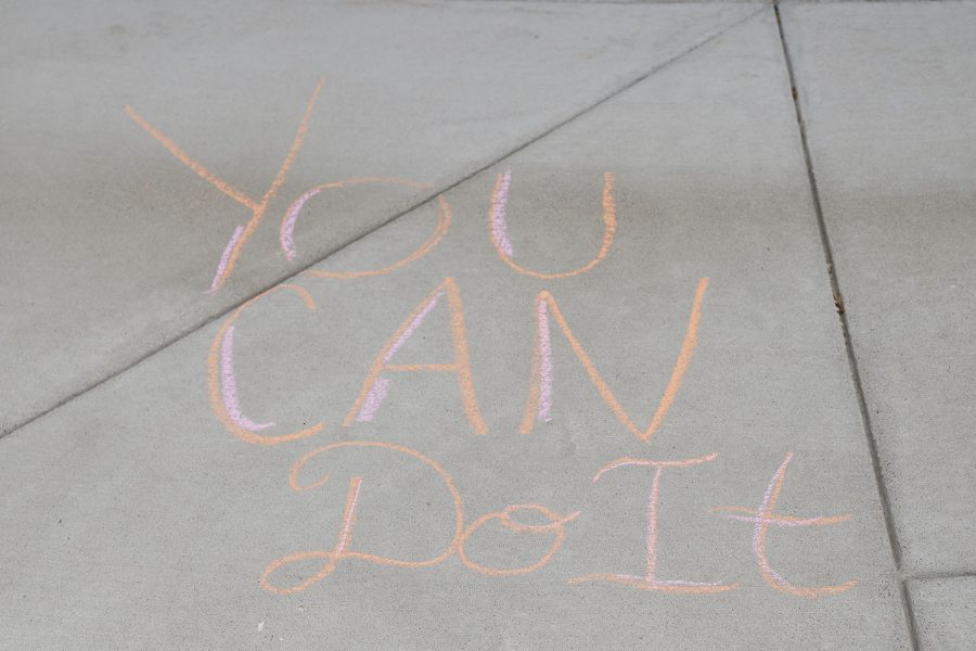 Members of NHS wrote positive messages to elementary students at Prairie Ridge Elementary and Clear Creek.