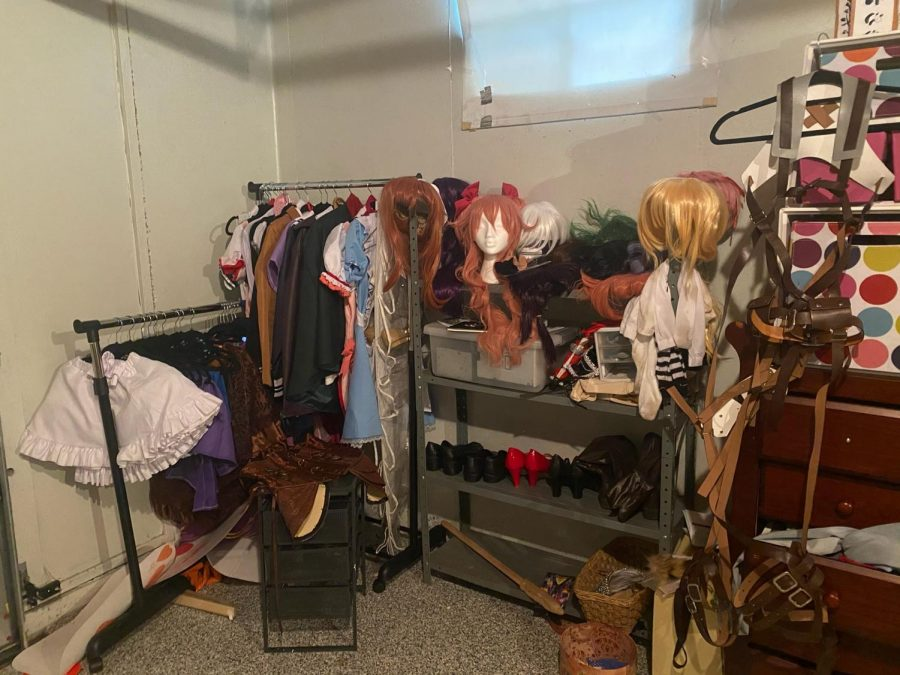 Sophomore Maddie Hanna participates in a variety of unique hobbies, including cosplay, and has a vast collection of costume pieces and accessories.