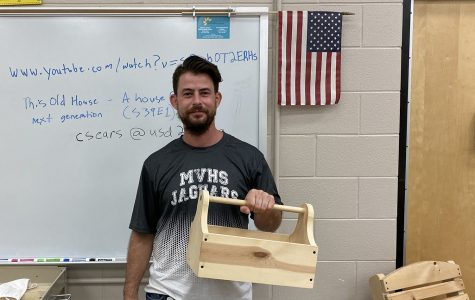 Woodworking teacher adjusts to full-time teaching