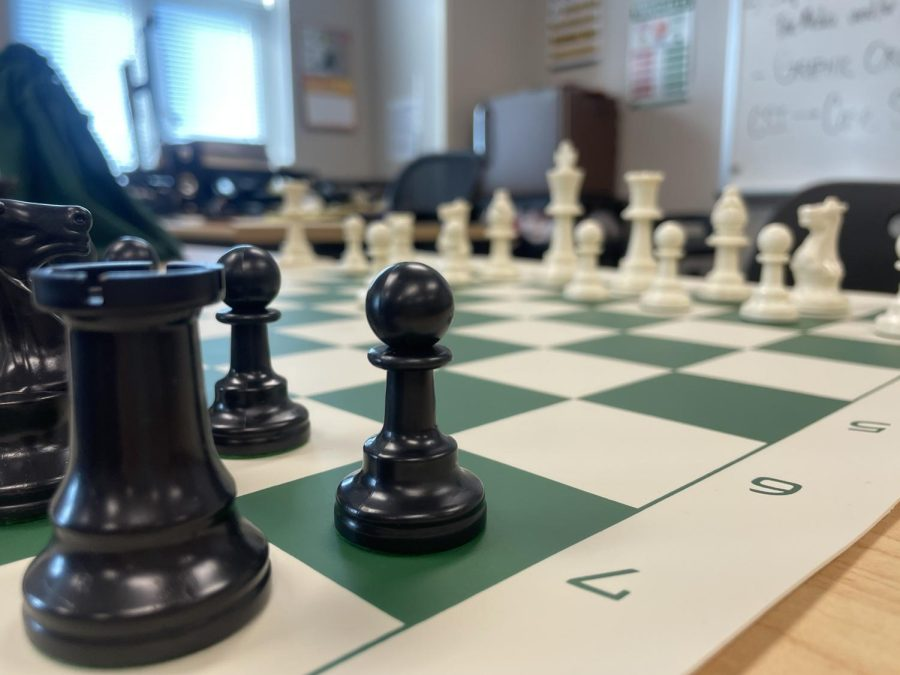 Started by junior Isaac Steiner, chess club meets on Mondays in Mr. Waldens room
